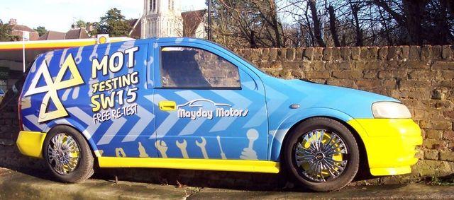 mayday motors car model