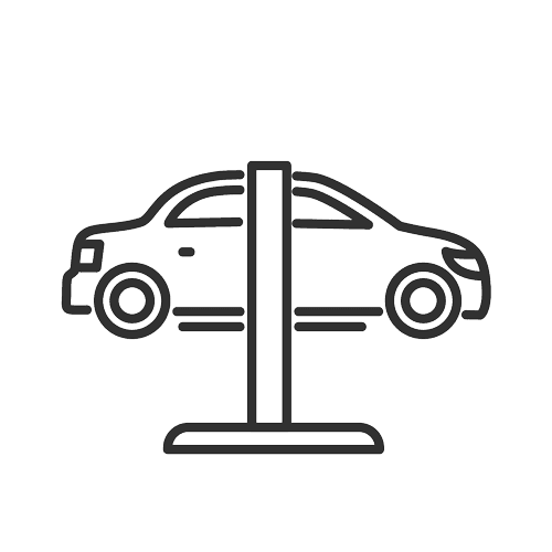 car on elevator icon