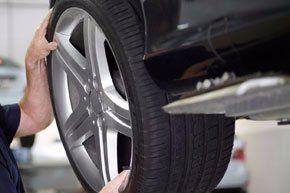 adjusting a car wheel