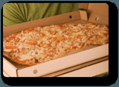 pizza in una scatola