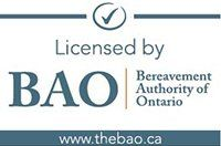 Licensed by the Bereavement Authority of Ontario