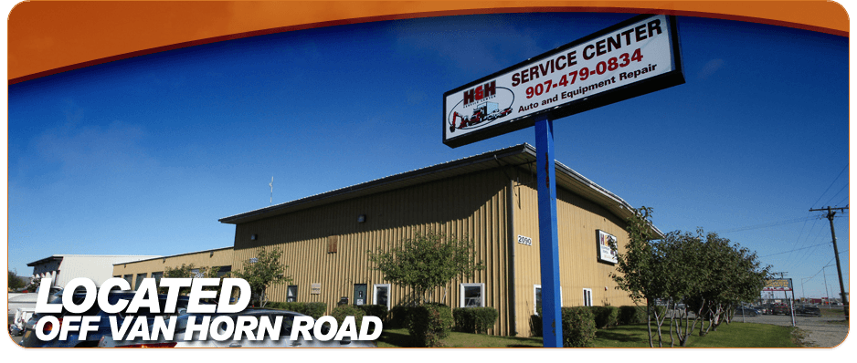Contact our service center located at off van horn road quality auto repair in Fairbanks