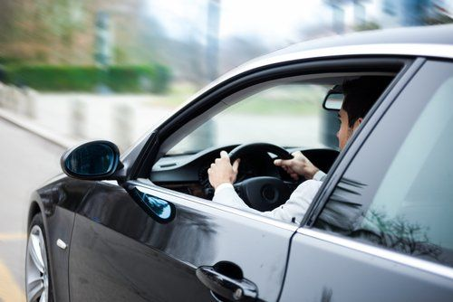 Men driving