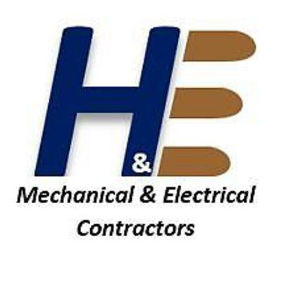H&E Electrical and Mechanical logo