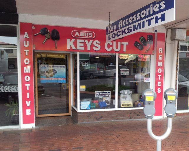 Outside the front of our locksmith in Rotorua