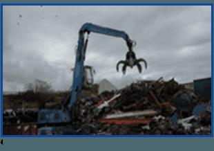 crane moving scrap metals
