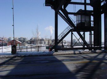 Steel Lift Bridge Stairway, Buffalo NY