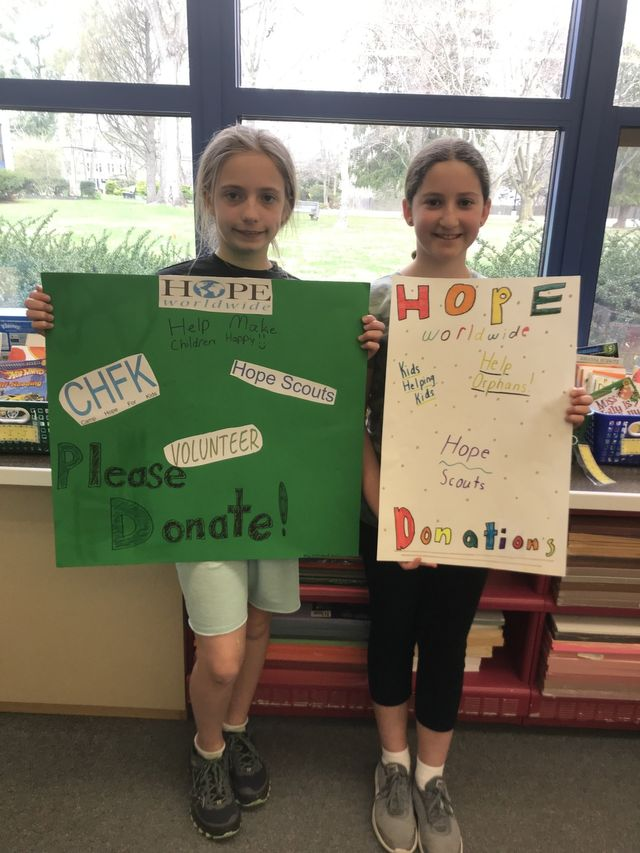 Elementary School Students Win Essay Contest And Raise 600 For HOPEww