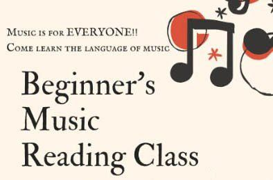 Beginner's Music Reading Class