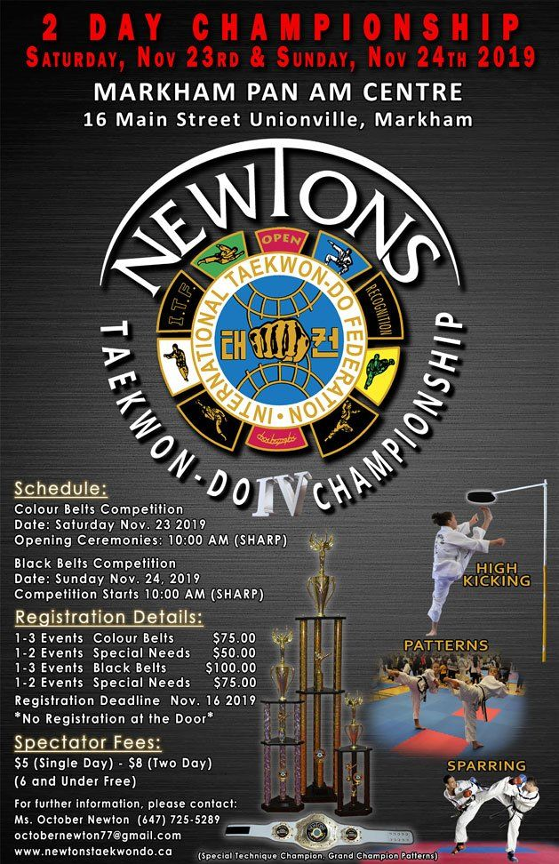 Newton Taekwondo Championship