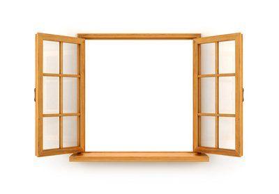 finestra aperta su sfondo bianco