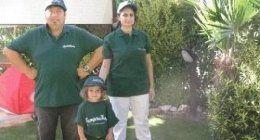 Giardinieri e una bambina