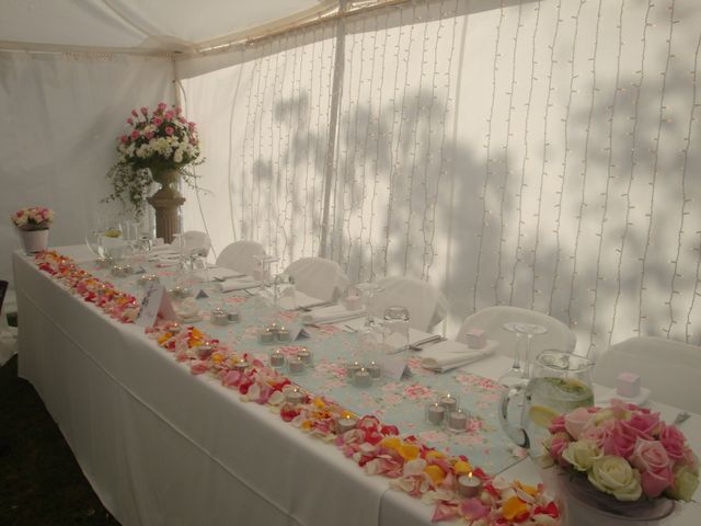 Bridal table and curtain lights