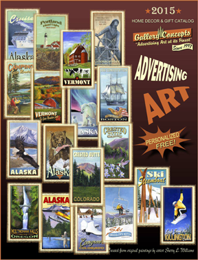 Gallery Concepts Advertising Art at its finest available to the retail trade via New Era Rep Group