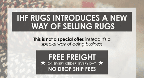 IHF Rugs Free Freight Ask your NEST Rep