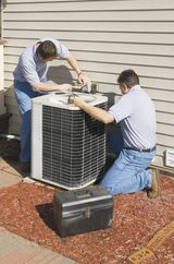 heating contractor at work in Thomasville, NC