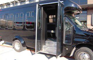 14 Passenger Black Party Bus Austin