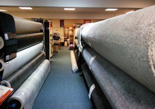 a wide range of carpet material