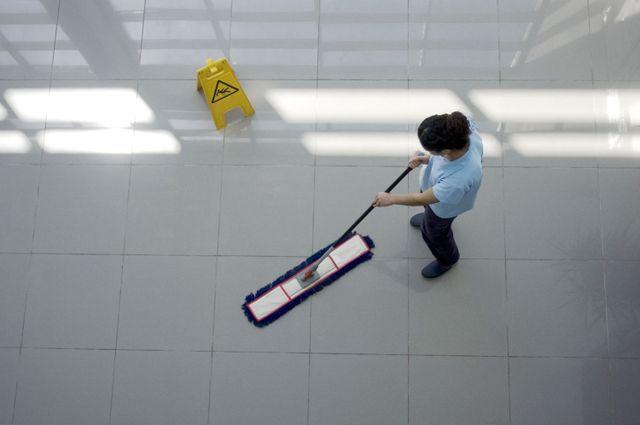 Polishing a floor in Wellington