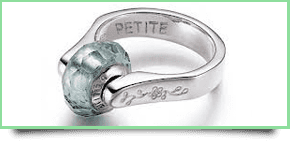 a ring with 'petite' engraved on the inside