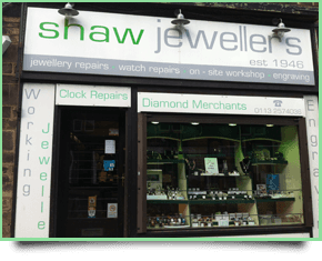 the front of Shaw Jewellers