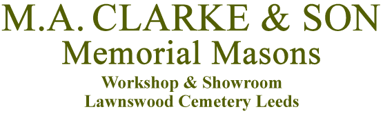 M.A. Clarke & Son Memorial Masons logo