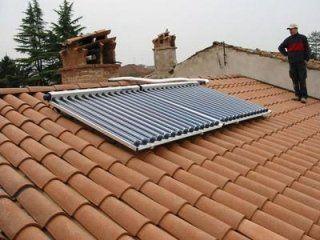 Impianto solare con centrale termica