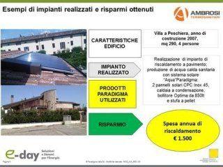 Impianto solare in villa a Peschiera del Garda di 290 mq