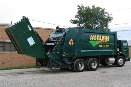47c0b3ee80025f Side View of Auburn Disposal Truck — Trash Removal in Chicago