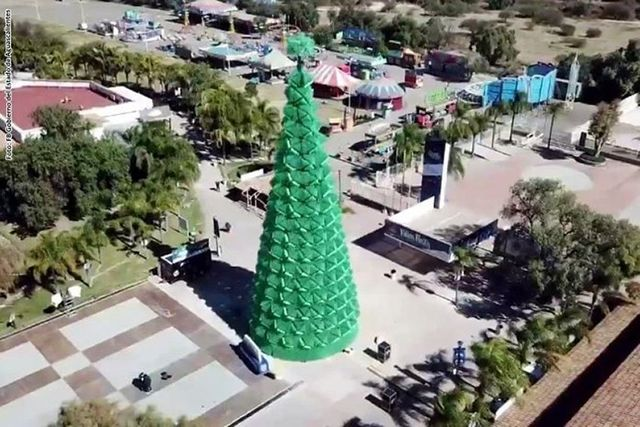 Tallest Christmas Tree Made With Recycled Materials World