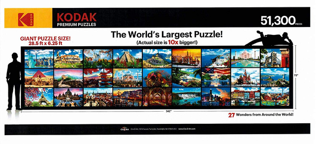 Largest commercially available puzzle: Kodak