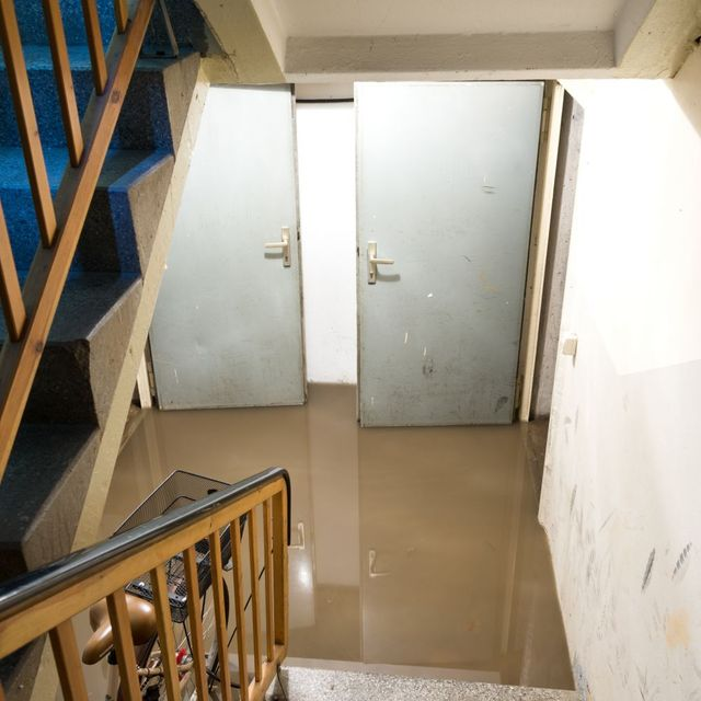 A basement in need of sump pump installation in Cincinnati, OH