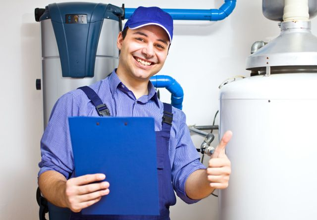 An experts in water heaters at work in Northern Kentucky