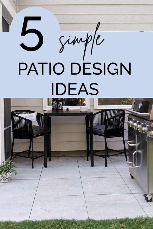 5 Awesome Patio Design Ideas