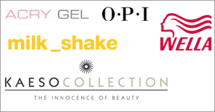 Various hair and beauty product logos