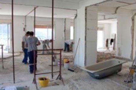 interno di un appartamento in fase di ristrutturazione