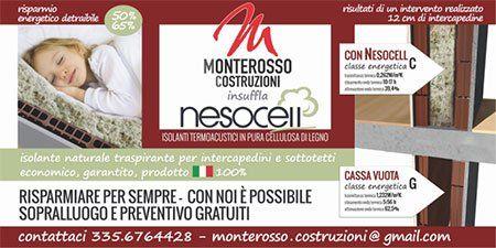 un volantino che sponsorizza Monterosso Costruzioni