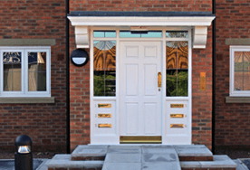 A large front door