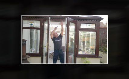 Rob at work at a customers house