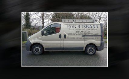 Side view of our company van