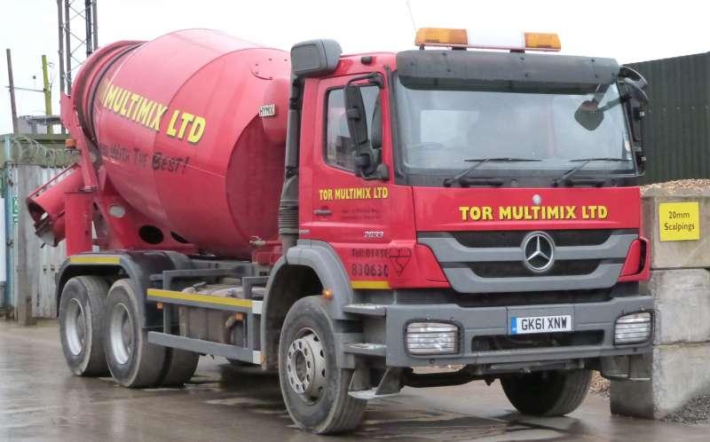 TOR MINIMIX vehicle on site