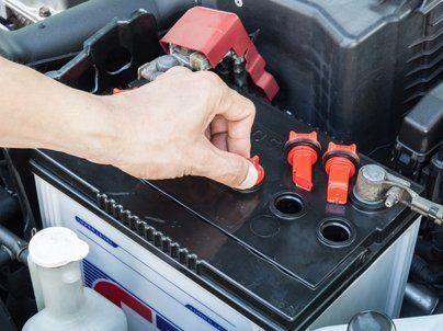 Battery maintenance work in progress