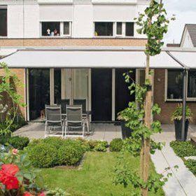 Textile patio roofs