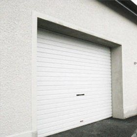 White roller garage doors