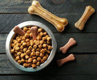 croccantini, bocconcini e ossi di cartilagine per cani