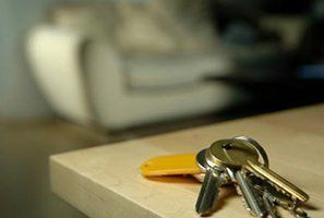 A set of keys on a counter