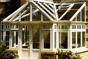 A newly built conservatory