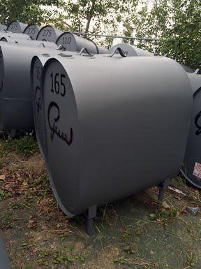 Obround tank gray