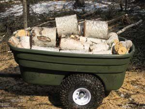 ATV with wood