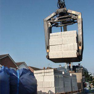 Crane lifting loads